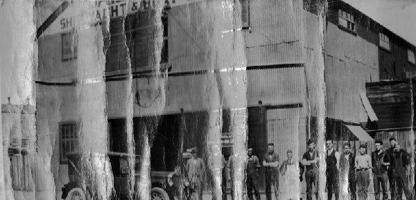 Chas Bailey & Sons yard, Halsey Street Auckland 1932